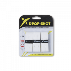 Tripack surgrips DROP SHOT COMPETITION BLANC