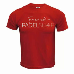 T-shirt homme FRENCH PADEL SHOP ROUGE