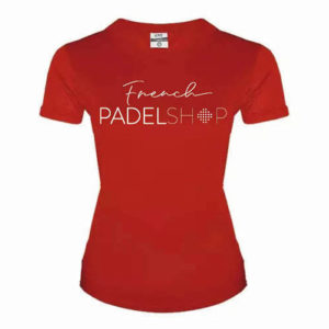 T-shirt femme FRENCH PADEL SHOP ROUGE