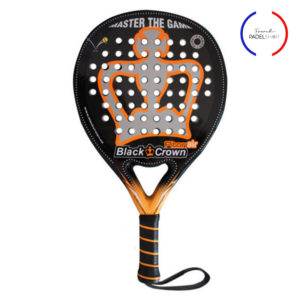 raquette de padel blackcrown avec logo french padel shop
